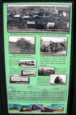 Railroad Development in Mason City Marker Right Panel Detail image. Click for full size.