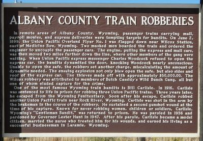 Albany County Train Robberies Marker image. Click for full size.