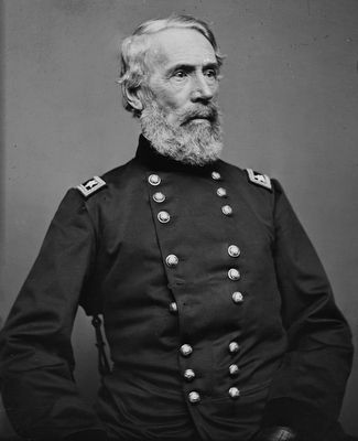 Major General Edwin Vose Sumner (1797–1863) image. Click for full size.