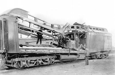 The Wilcox Train Robbery express car image. Click for full size.