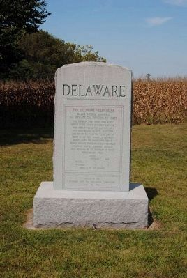 3rd Delaware Infantry Monument image. Click for full size.