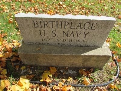 Another Birthplace of the U. S. Navy Marker image. Click for full size.