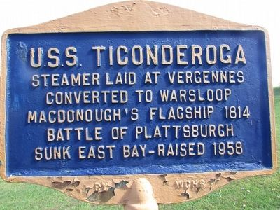 U.S.S. Ticonderoga Marker image. Click for full size.
