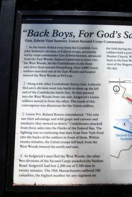 """Back Boys, For God's Sake Move Back;"" Marker image. Click for full size."