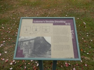Laborer's Double Dwelling Marker image. Click for full size.