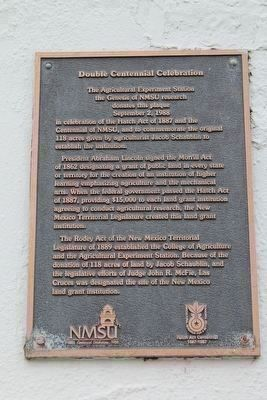 Double Centennial Celebration Marker image. Click for full size.