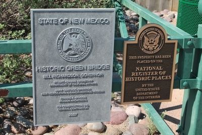 Secondary Historic Green Bridge Markers image. Click for full size.