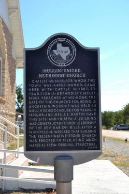 Mullin United Methodist Church Marker image. Click for full size.