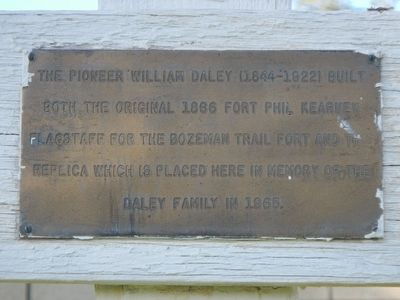 William Daley Flagpole Marker image. Click for full size.