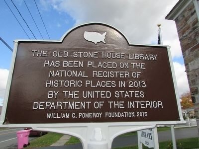 Old Stone House Library Marker image. Click for full size.