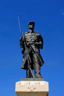 124th Pennsylvania Volunteer Infantry Monument<br>Statue of Col. Joseph W. Hawley image. Click for full size.