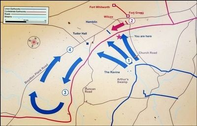 The Confederate Counterattack Map image. Click for full size.