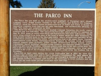 The Parco Inn Marker image. Click for full size.