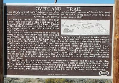 Overland Trail Marker image. Click for full size.