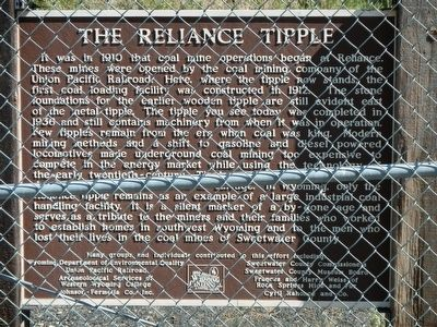 The Reliance Tipple Marker image. Click for full size.