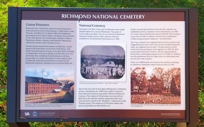 Richmond National Cemetery Marker image. Click for full size.
