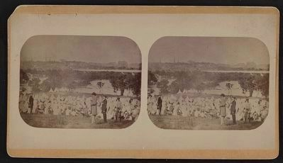 "The Union prison camp at ""Belle Isle,"" Richmond, Va. image. Click for full size."