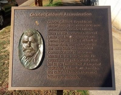 Charles Caldwell Assassination Marker image. Click for full size.