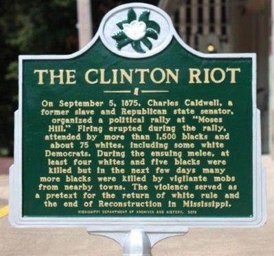Clinton Riot historical marker (future) image. Click for full size.