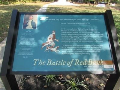 The Battle of Red Bank Marker image. Click for full size.