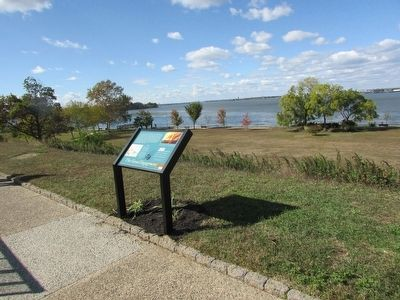 Marker on the Red Bank Battlefield image. Click for full size.