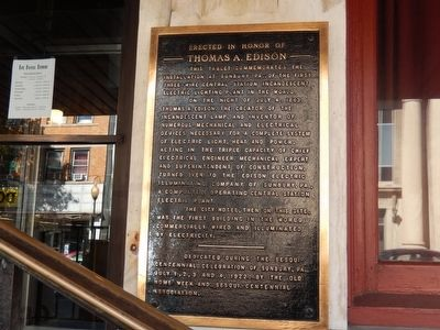 The Hotel Edison Marker image. Click for full size.