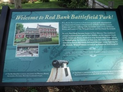 Welcome to Red Bank Battlefield Park! Marker image. Click for full size.