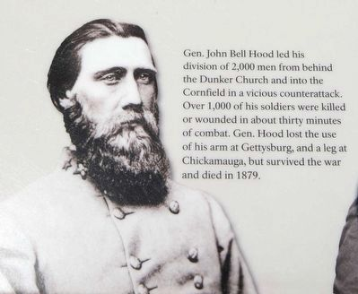 The Most Terrible Clash of Arms Marker - General John Bell image. Click for full size.