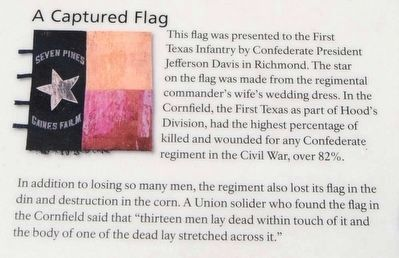 A Cornfield Unlike Any Other Marker<br>A Captured Flag image. Click for full size.