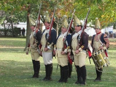 Hessian Soldiers at Red Bank image. Click for full size.