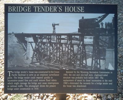 Bridge Tender's House Marker image. Click for full size.