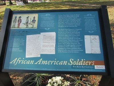 African American Soldiers Marker image. Click for full size.