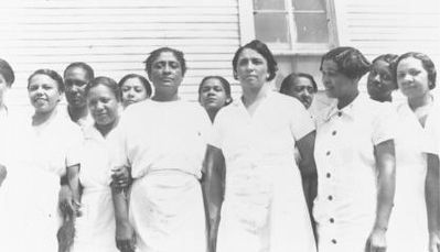 Dr. Ferebee & the Mississippi Health Project staff. image. Click for full size.