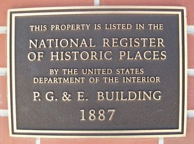 Peoples Gas & Electric Building NRHP Marker image. Click for full size.