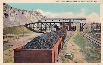 <i>Coal Mining Scene at Rock Springs, Wyo.</i> image. Click for full size.