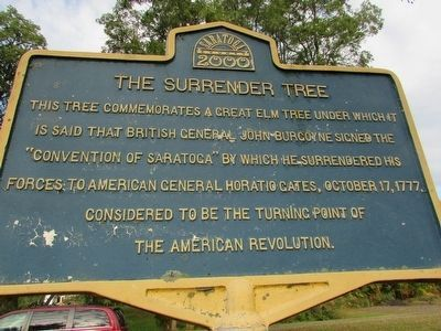 The Surrender Tree Marker image. Click for full size.