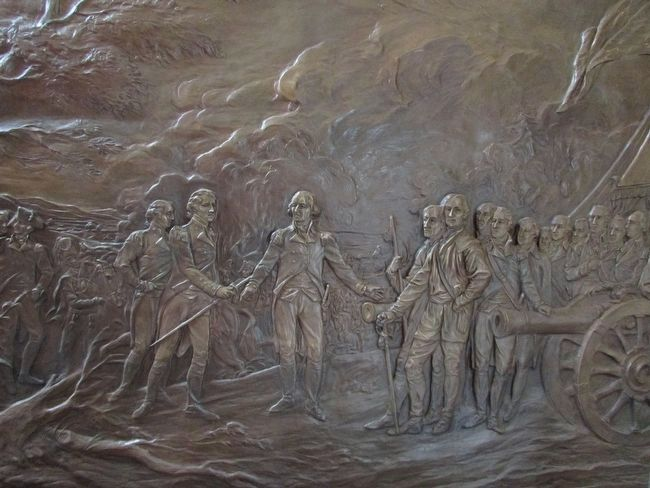 Bronze Plaque Depicting the Surrender image. Click for full size.