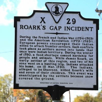 Roark's Gap Incident Marker image. Click for full size.