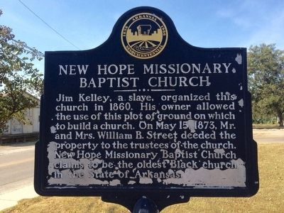 New Hope Missionary Baptist Church Marker image. Click for full size.