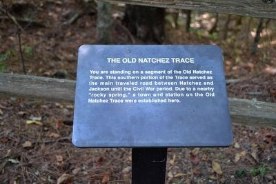 The Old Natchez Trace Interpretive Sign image. Click for full size.