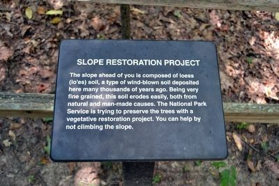 Slope Restoration Project Interpretive Sign image. Click for full size.