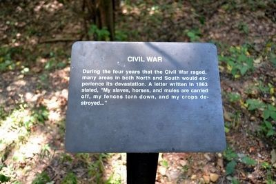Civil War Interpretive Sign image. Click for full size.