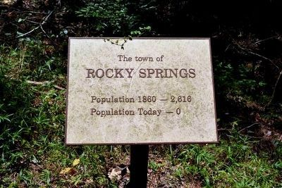 The Town of Rocky Springs Interpretive Sign image. Click for full size.