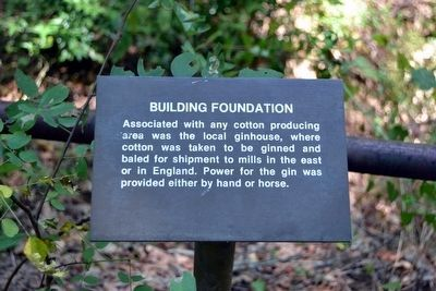 Building Foundation Interpretive Sign image. Click for full size.