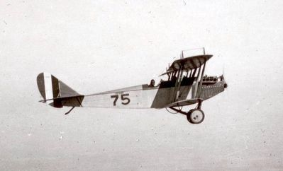 A Curtiss JN-4 (Jenny) of the type Lindbergh flew here. image. Click for full size.