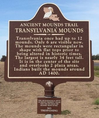 Transylvania Mounds Marker image. Click for full size.
