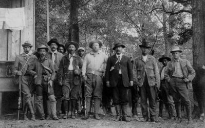 The Bear Hunters (Teddy Roosevelt in middle) image. Click for full size.