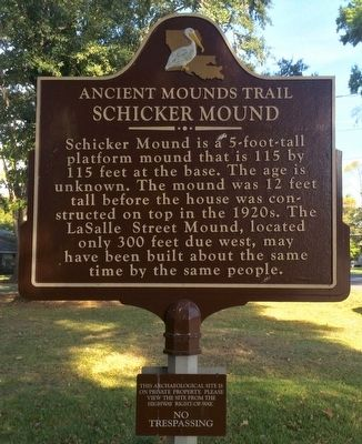 Schicker Mound Marker image. Click for full size.