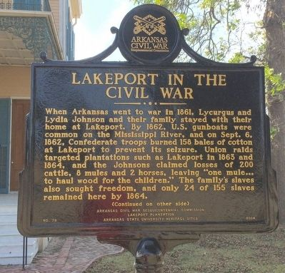 Lakeport in the Civil War Marker (Side 1) image. Click for full size.
