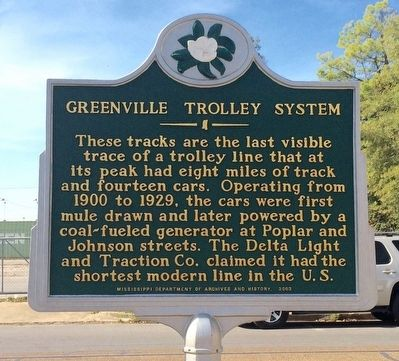 Greenville Trolley System Marker image. Click for full size.